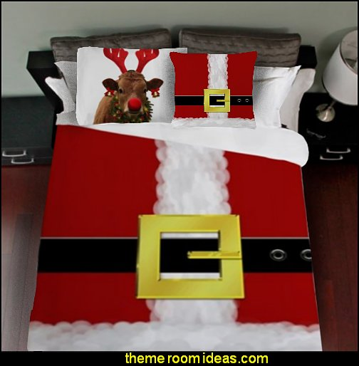 Santa Suit  bedding santa pillows   Christmas decorating ideas - Christmas decor - Christmas decorations - Christmas kitchen decor - santa belly pillows - Santa Suit Duvet covers - Christmas bedding - Christmas pillows - Christmas  bedroom decor  - winter decorating ideas - winter wonderland decorating - Christmas Stockings Holiday decor Santa Claus - decorating for Christmas - 3d Christmas cards - xmas tree decor