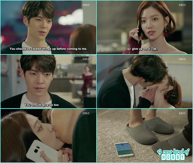 Joon YOung Kiss Jeon Eun while she talking to her motherin law at phone - Uncontrollably Fond - Episode 15 Review