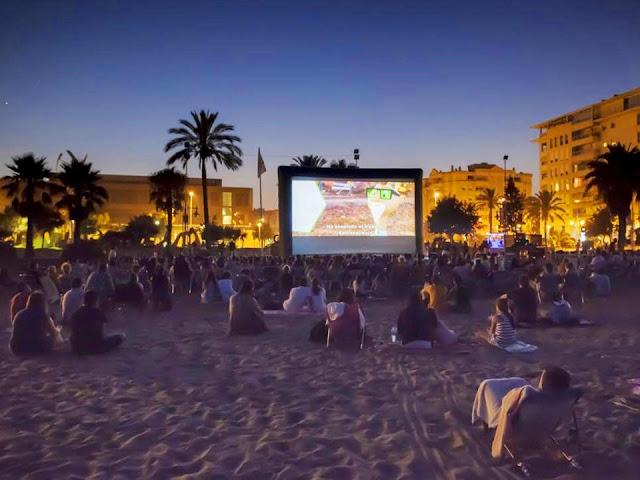Open Air Cinema Malaga at the Beach