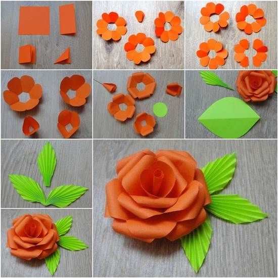 Step by step diy paper flower mightylinksfo