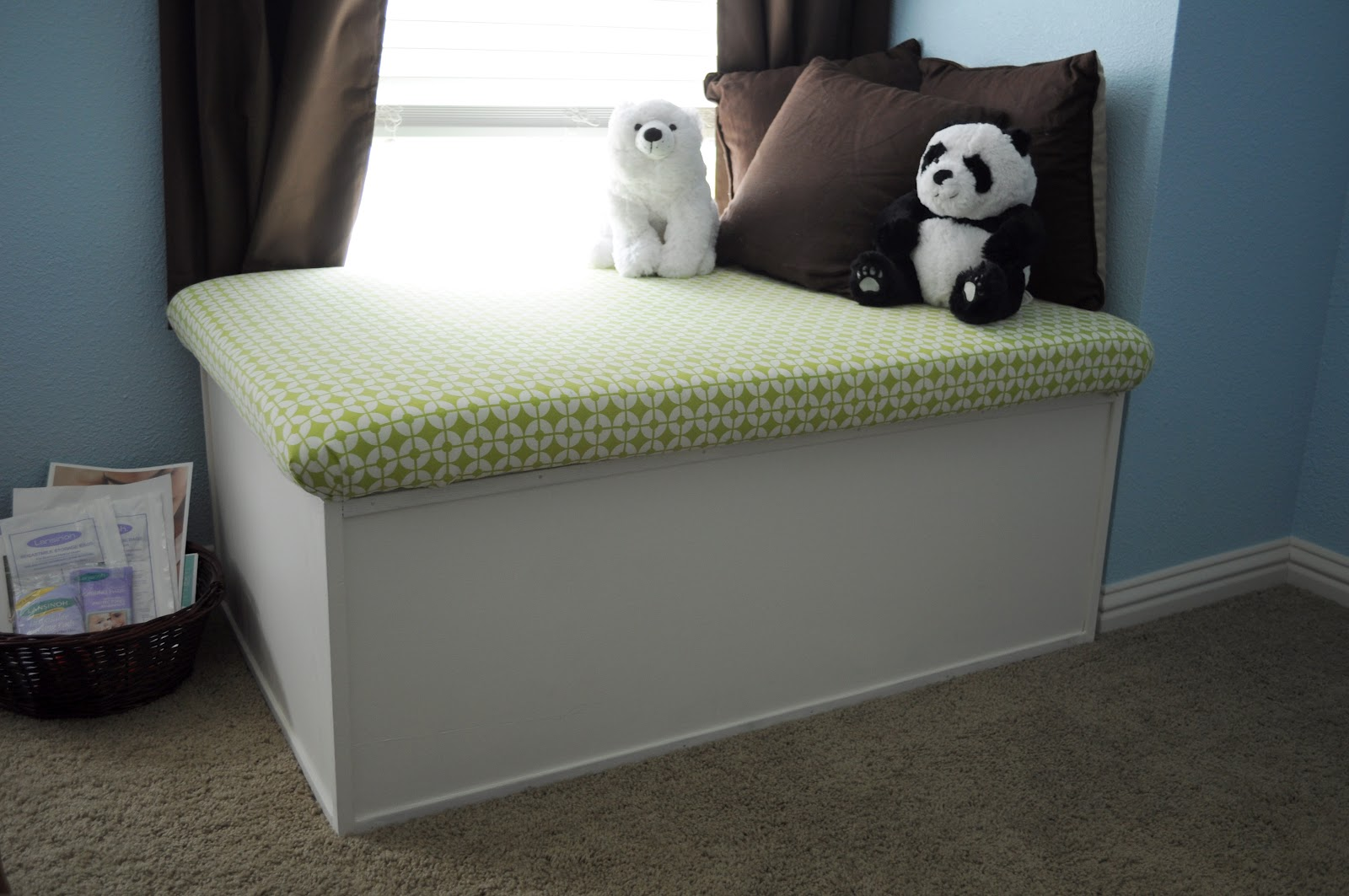 Olive Inspired Our Nursery Window Seat Toy Box