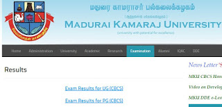 Madurai Kamaraj University RESULTS