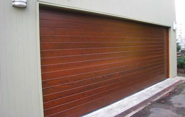 garage door wood veneer ayanahouse