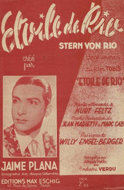 Musique De Film 19281945 Stern Von Rio 1940 étoile De Rio