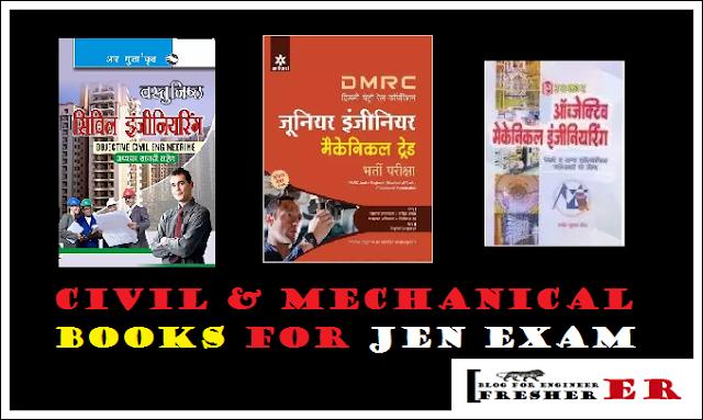 civil and mechanical books jen exam buy online hindi