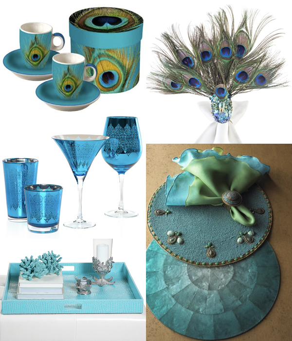 turquoise finds for entertaining