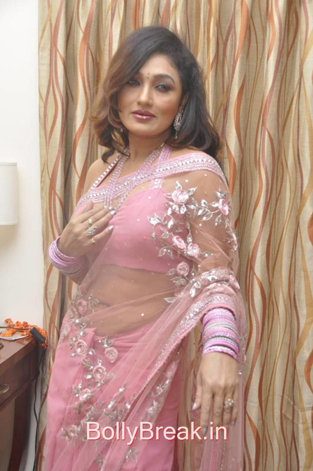 Ramya Sri Stills in Light Pink Saree, Ramya Sri Saree Hot Pics, Ramya Navel Photo gallery 2015