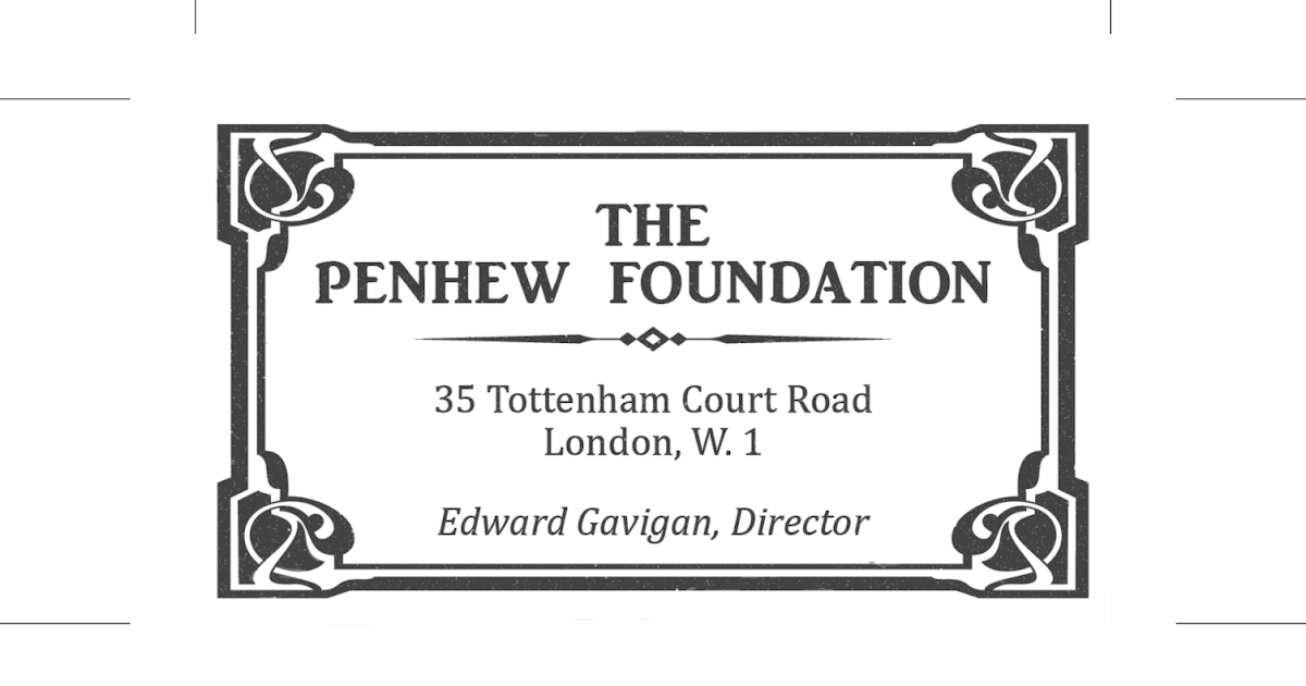 Propnomicon: Penhew Foundation Business Card