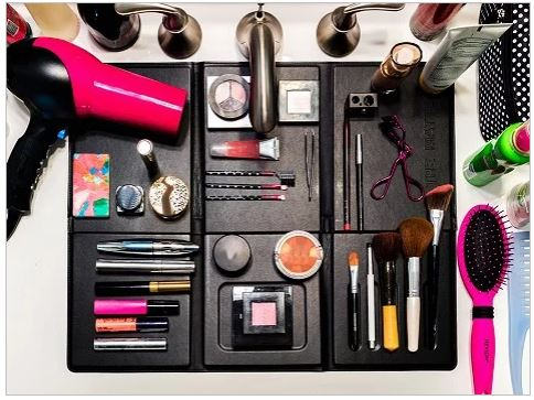 Turn Your Tiny Bathroom Sink Into A Spacious Makeup Counter