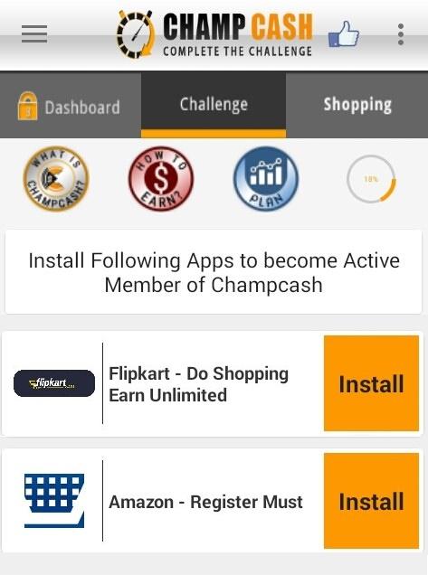 Champcash App Challenge