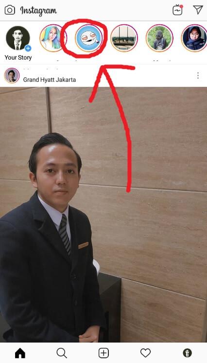 Tekan Status Teman Instagram