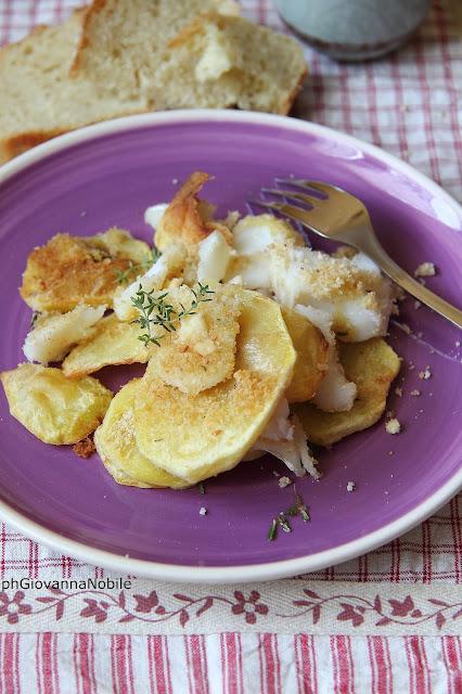 Baccalà con patate gratinato al forno
