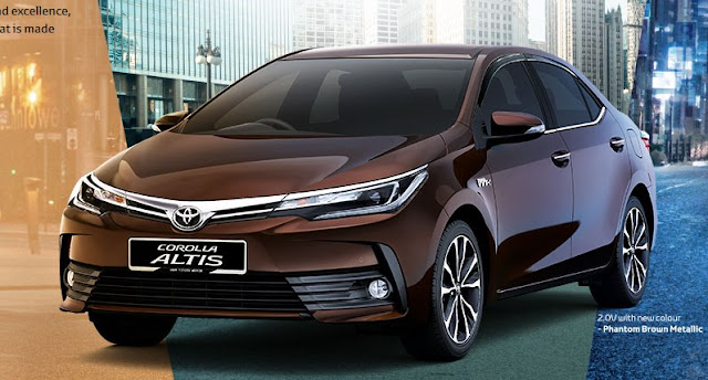 With The New Corolla Altis