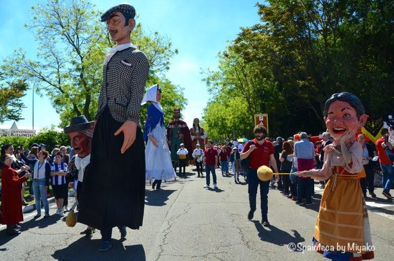 Fiestas San Isidro en Madrid マドリードのサンイシドロ祭りの行進