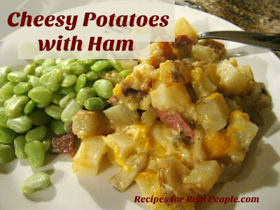 Leftover ham? Try this comforting cheesy potatoes with ham recipe. Families love it!
