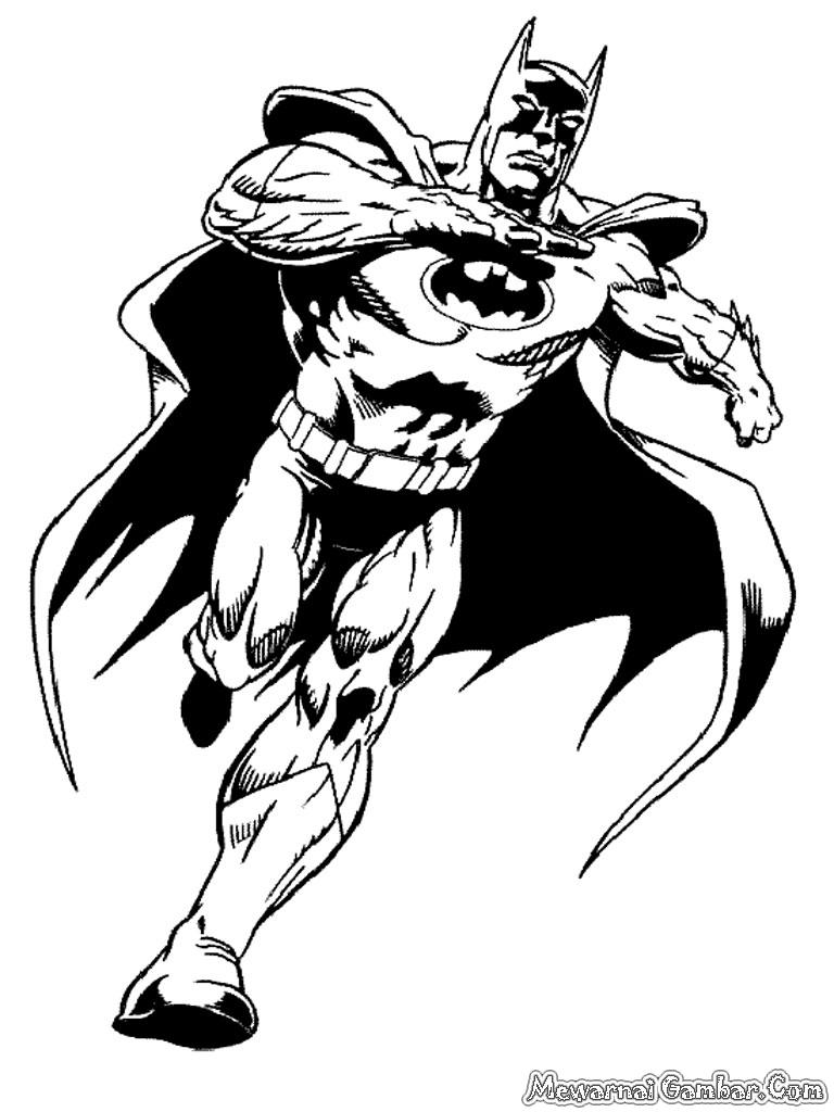 Mewarnai Gambar Batman