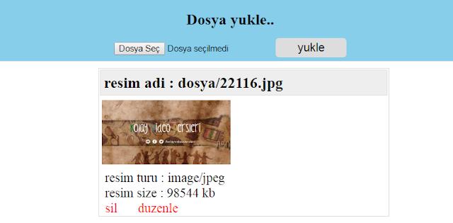 PHP RESİM YUKLEME