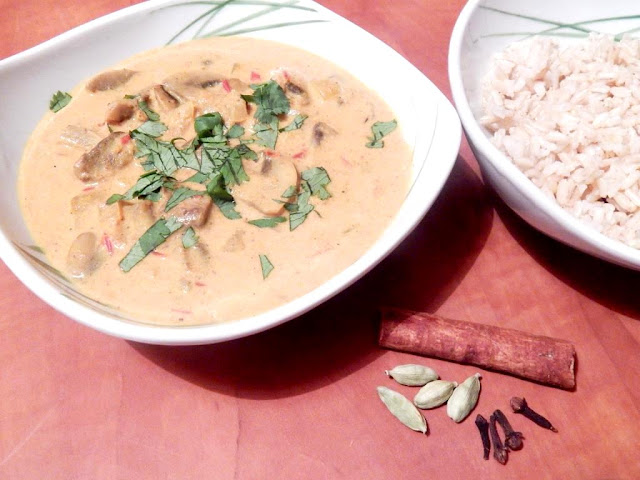 Houbová masala  -  indické kari s houbami