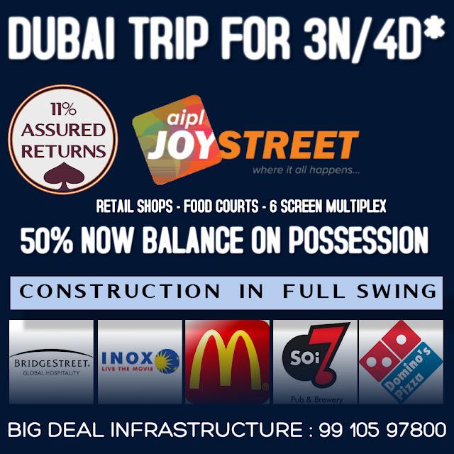 aipl joy street sector 66 gurgaon, aipl new launch sector 66 gurgaon, aipl high street market on golf course extn road gurgaon