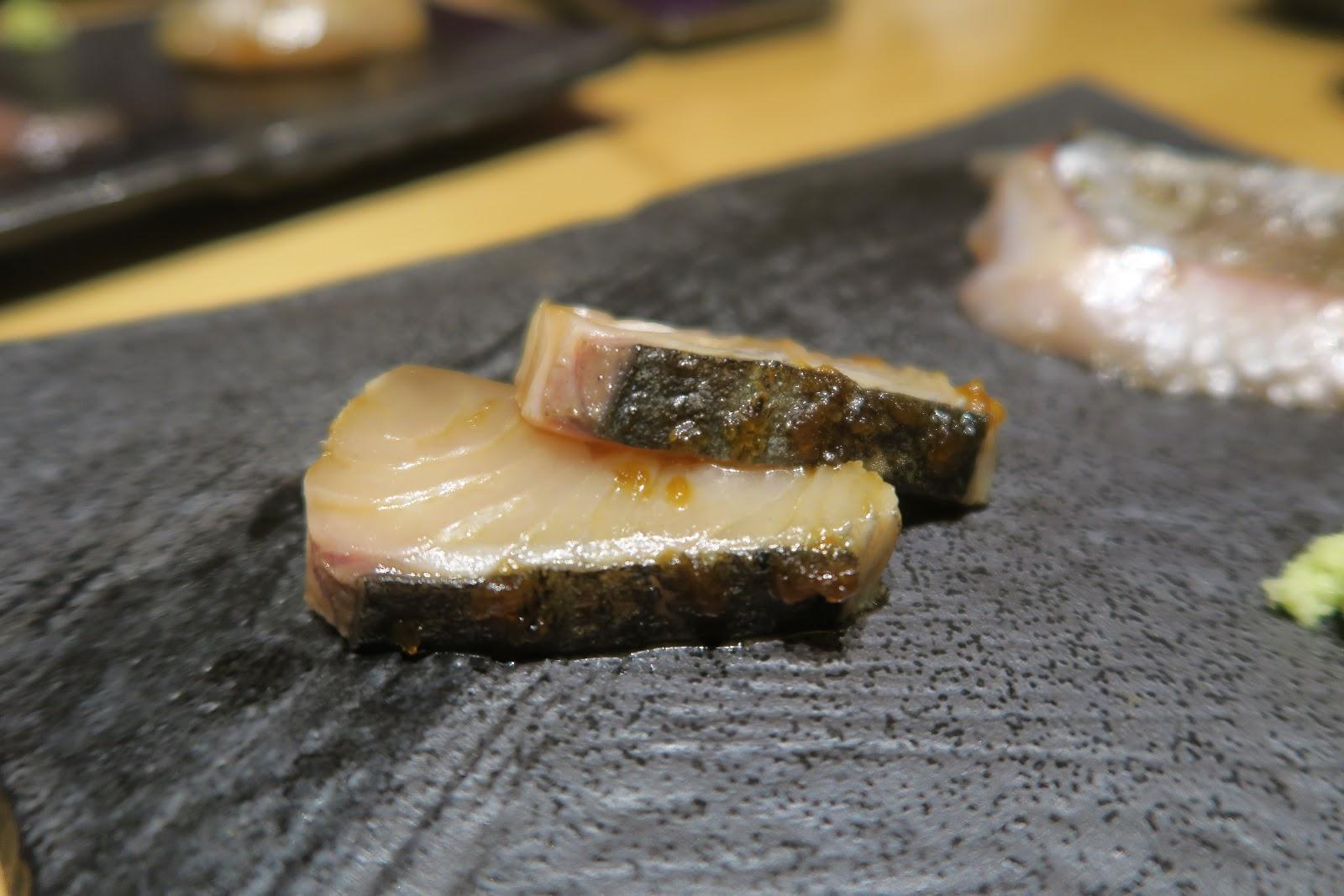 omakase mackerel sushi tokyo ten sashimi