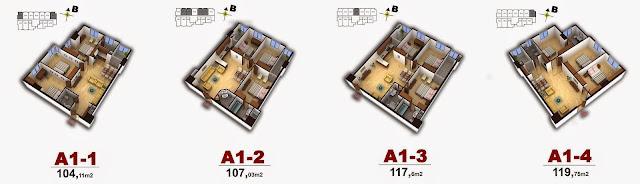 Thiết kế căn hộ Sapphire Palace Chính Kinh