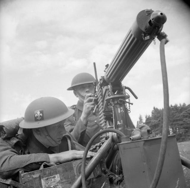 British soldiers manning a Vickers machine gun, 16 August 1941 worldwartwo.filminspector.com
