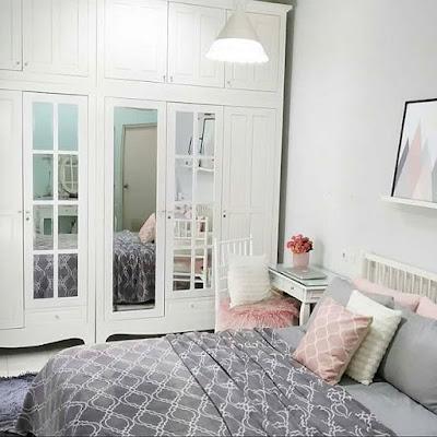 inspirasi desain kamar tidur paling keren warna putih