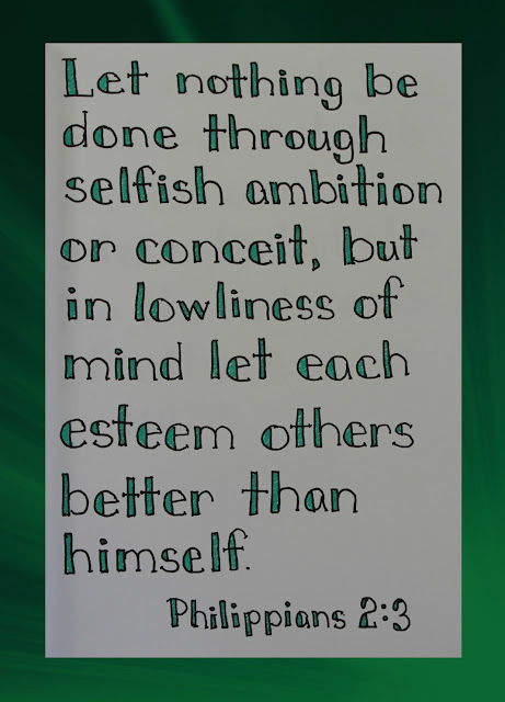 Scripture Writing, Philippians 2:3