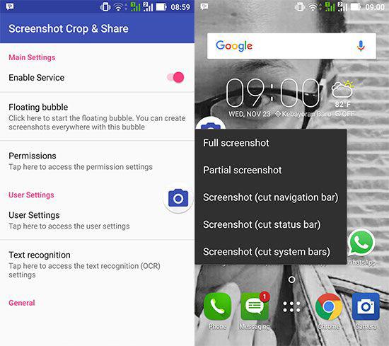 Cara Screenshot Sebagian Layar di Smartphone Android 2