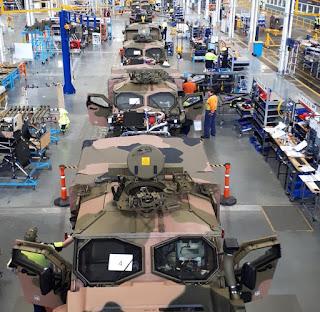 Lini Produksi Kendaraan Lapis Baja Hawkei