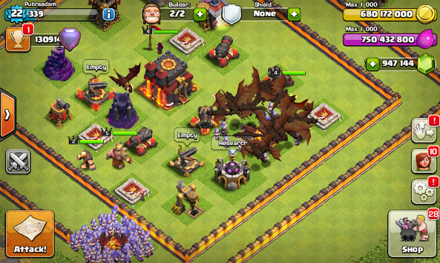 Download Clash of Clans FHx V8 Mod Apk Putraadam.xyz