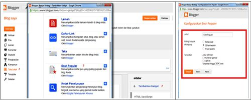 memasang widget popular post di blog