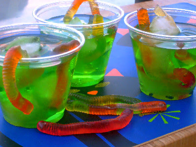 green drink with gummy worms