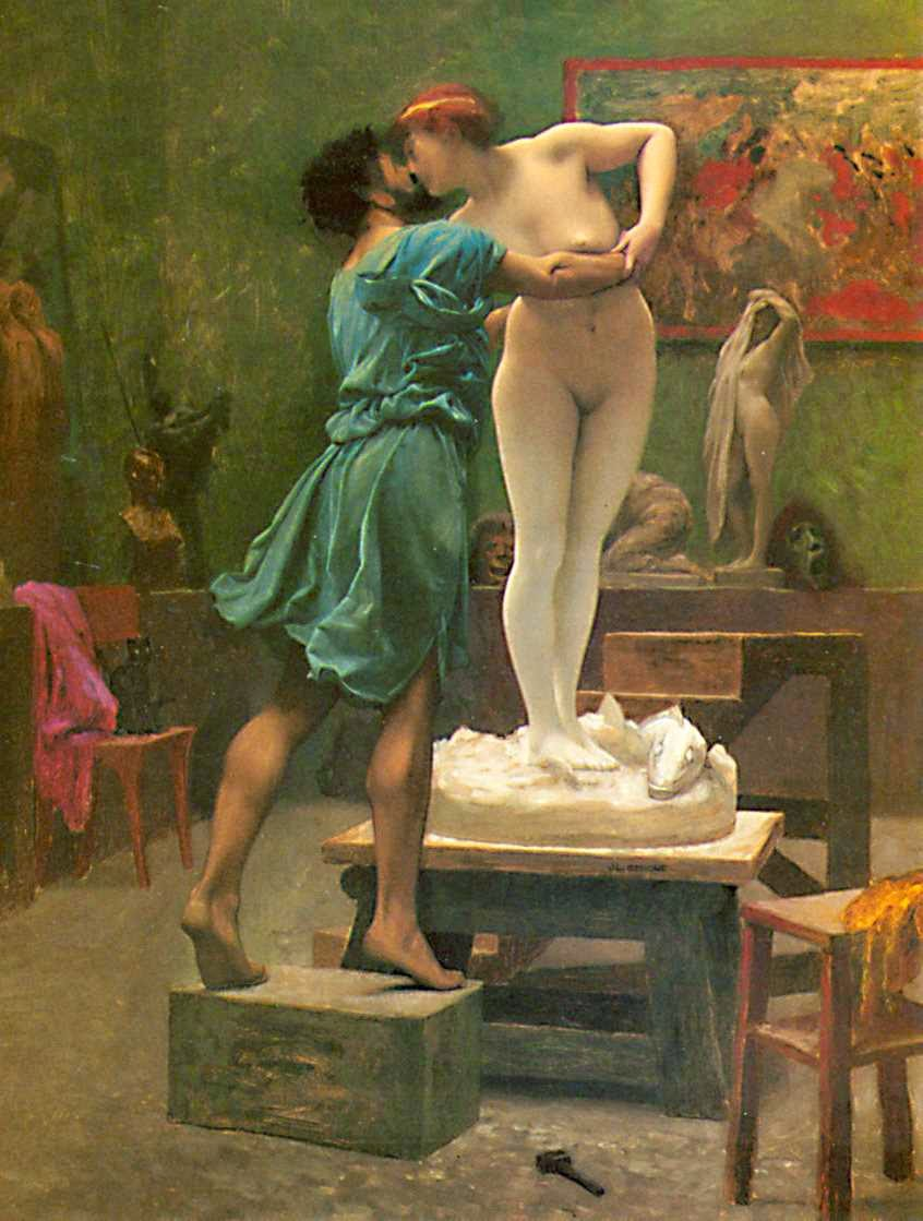 detail from Pygmalion et Galatée, by Jean-Léon Gérôme (1824-1904), Wikimedia Commons