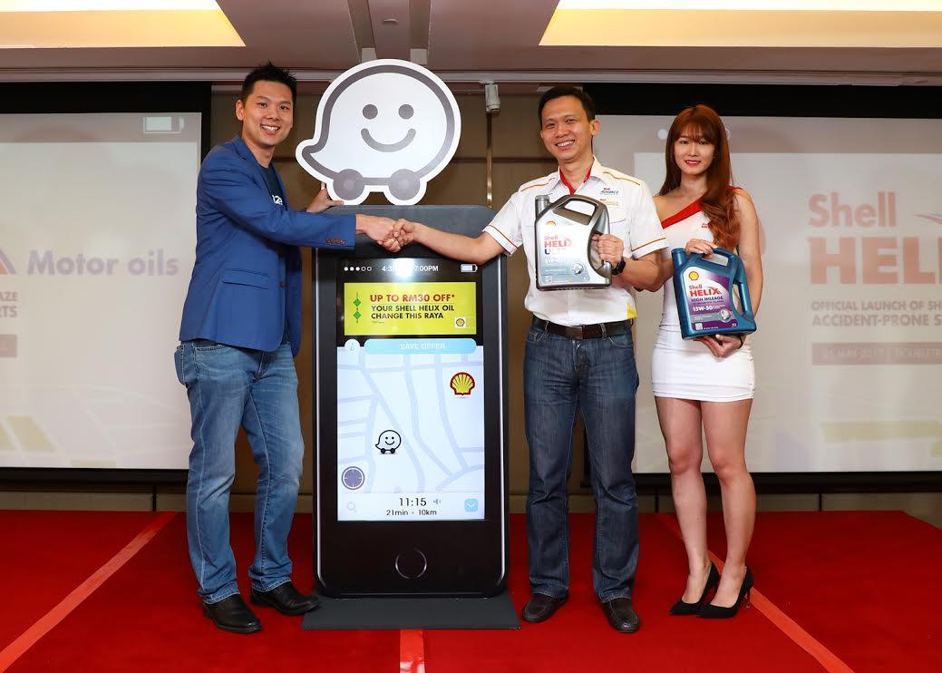 Motoring-Malaysia: SHELL HELIX, WAZE LAUNCH ACCIDENT-PRONE