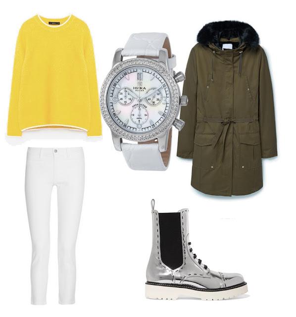 часы ника женские, золотые часы ника, модные образы осень 2016 на каждый день