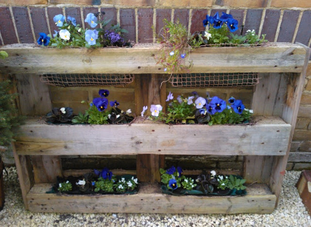 Vertical Beauty Pallet Garden