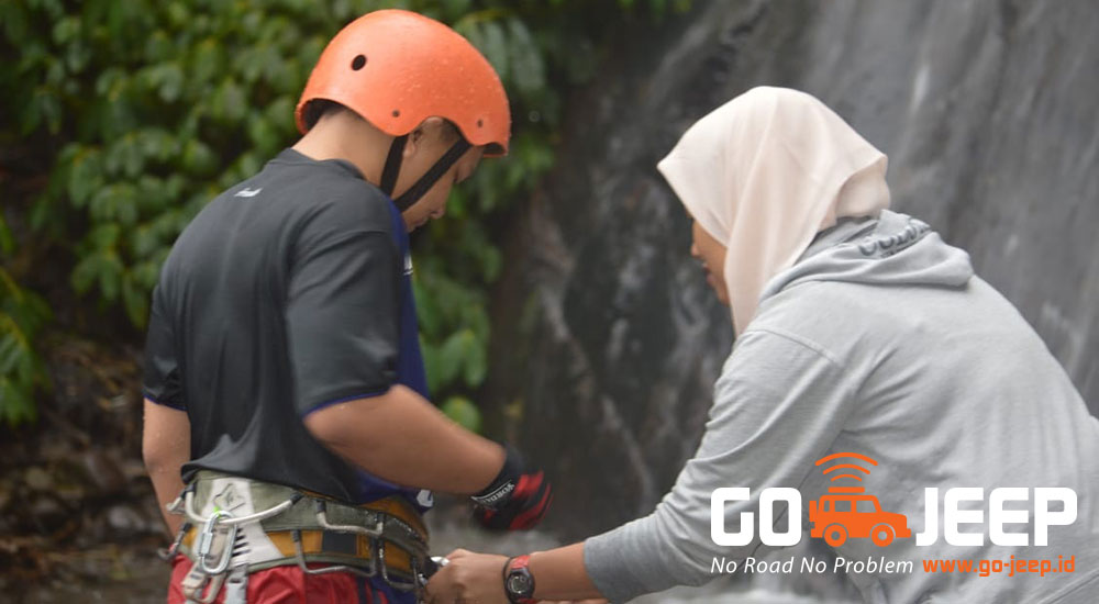 safety first di Malang Canyoning - Coban Putri Batu