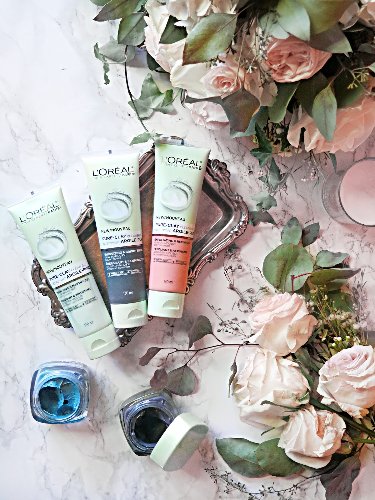 Everyday Clay | NEW L'Oreal Paris Pure Clay Daily Cleansers & The New Pure Clay Comforting & Unifying Mask | Review & Guide | labellesirene.ca
