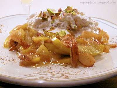Caramelized Cardamom Apples with Pistachio Cream