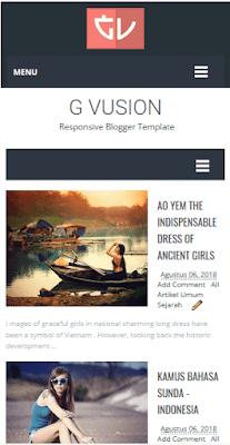 G Vusion - Template Blogger Yang Seo Dan Responsive