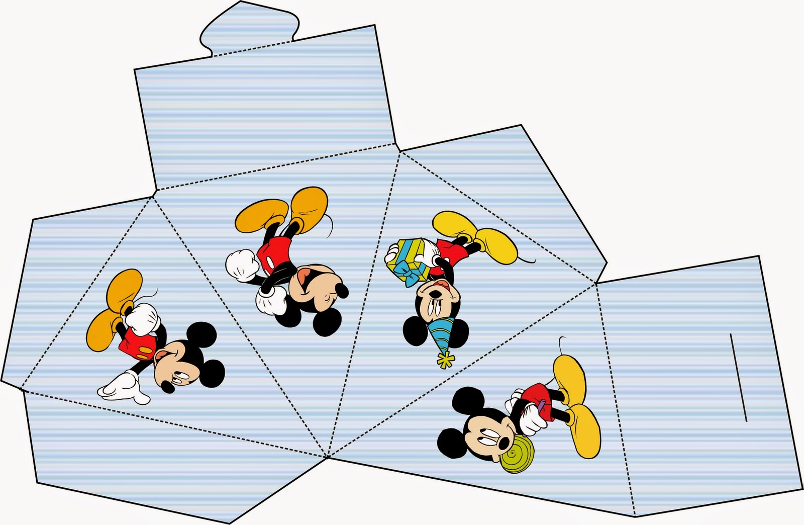 Caja para Imprimir Gratis de Mickey.