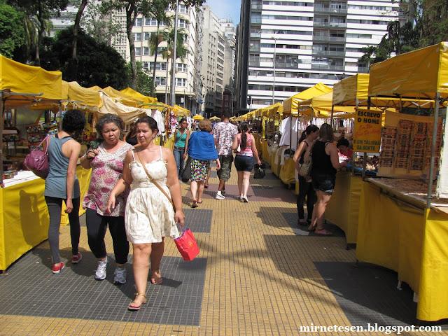 Сан-Паулу - ярмарка в выходной на Площади Республики