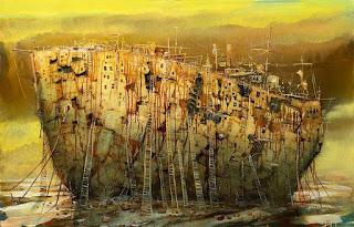 pinturas-surrealistas-oleo-barcos