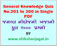 Shikshanjagat GK Quiz No.201 to 300 In Single PDF