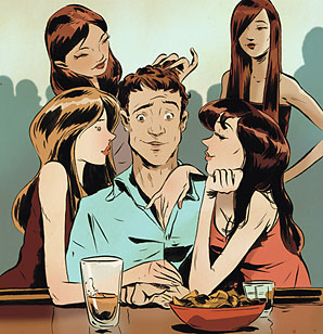 Image result for guy with all the girls