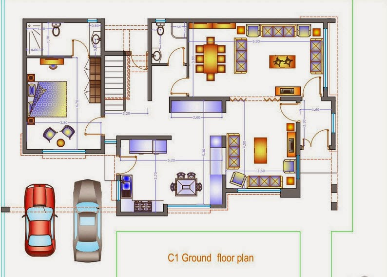 modern two story villa details 300 msq 15m x 20m. Black Bedroom Furniture Sets. Home Design Ideas