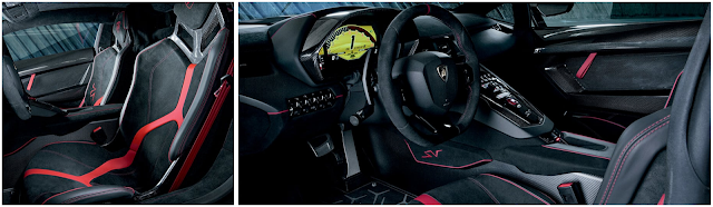 aventador superveloce interior design