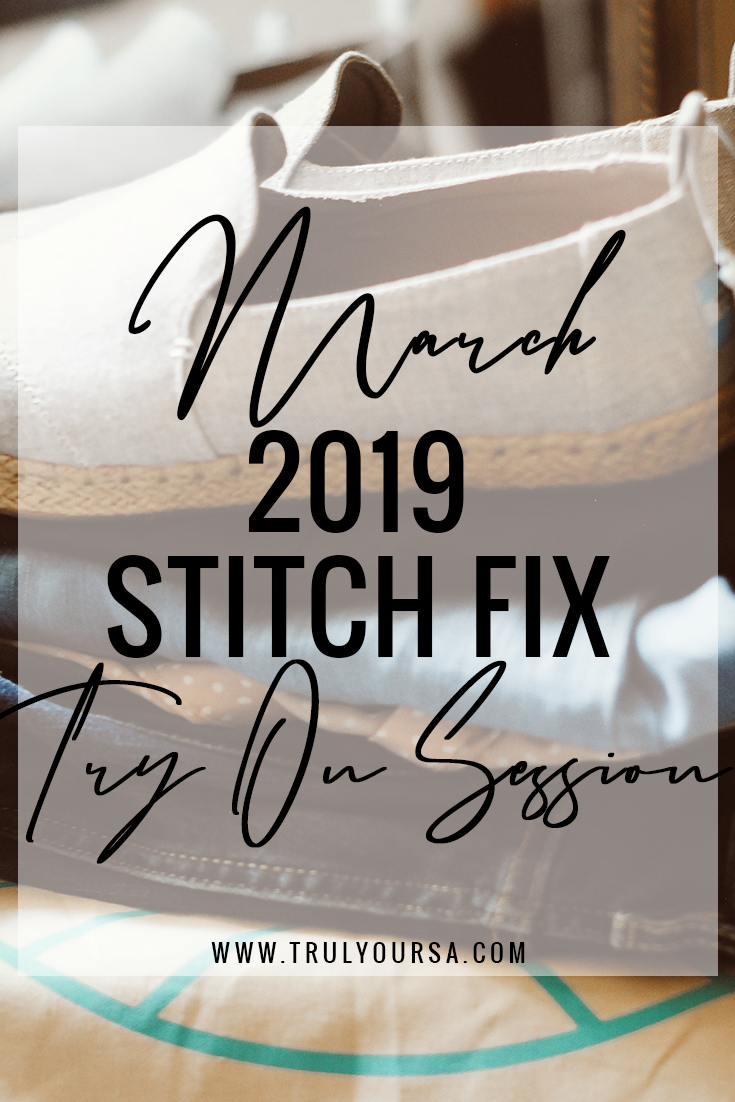 Happy March, y'all, and welcome back to another Stitch Fix try on session! This month I asked my Stitch Fix stylist for a few basics that I would incorporate into a spring capsule wardrobe I'm in the middle of developing. She totally listened and sent over a few pieces that would be the perfect wardrobe staples, but they didn't exactly work for me. Keep reading to find out why! #stitchfix #stitchfixreview #plussizestitchfix
