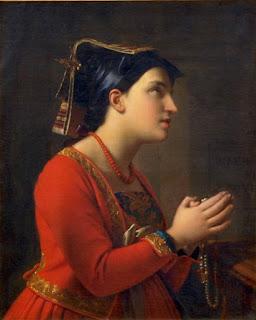 Moritz Calisch - Young Italian Woman Praying